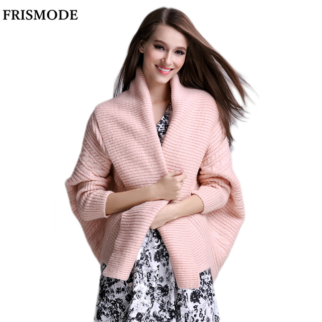 3e4d6af435 2017 Autumn Winter Ribbed Batwing Sleeve Loose Sweater Coats Warm Knitwear  for Women Pink black Female Cardigan Sweater