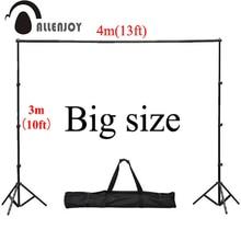 Allenjoy 4*3 mt/13 * 10ft Berufs Kulissen stand Hintergrund Support System 2 steht + 4 kreuz bar (Jeweils 1 mt) + tragetasche + 4 clips