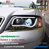 Hireno Car Styling Head Lamp For 1997 2004 Audi A6 Headlights LED Headlight Assembly DRL Angel