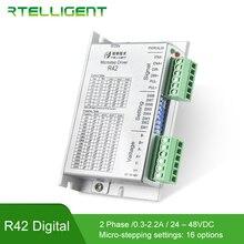 חנות מפעל R42 Nema 17 מנוע צעד נהג CNC ערכות 2.2A 24 48VDC DC עבור NEMA14 17 צעד דורך מנוע