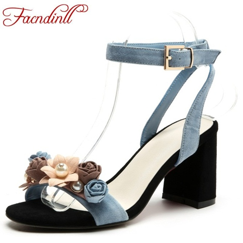 FACNDINLL fashion women summer shoes 2018 brand woman sandals high heels flower sweet open toe women wedding dress party woman facndinll women summer shoes sandals