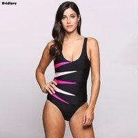 Avidlove Neue Bikini badeanzug frauen sexy Padded Kontrast Farbe Patchwork One Piece Bikini Gesetzte Badebekleidung Beachwear badeanzug