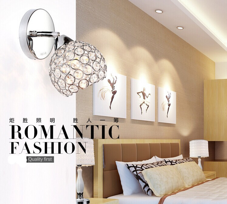 ФОТО Free shipping + Simple style modern crystal wall lamp for stair lamp,bedroom lamp