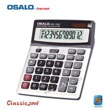 ОС-1200V Большой ЖК-Экраном 12 Цифр Электронный Солнечный Калькулятор многофункциональный Автоматическое Отключение Питания Dual Power Calculadora