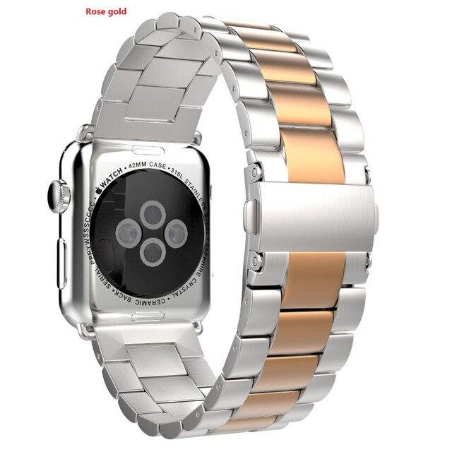 2d1b178eb83 Prata de Aço Inoxidável Pulseira de Relógio Faixa de Relógio Pulseira Strap  para Apple 38mm