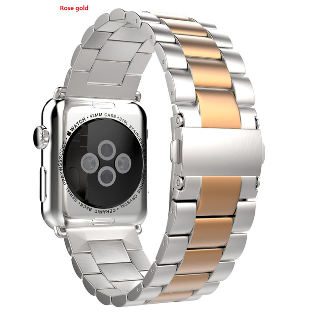 Silver Stainless Steel Watch Band Bracelet Wristband Strap for Apple Watch Strap 38mm/42mm Free Remover Tool