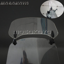 Прозрачный мотоцикл поднялся Регулируемый ветер Экран лобовое стекло спойлер воздушный дефлектор для Honda BMW F800 R1200GS KAWASAKI YAMAHA