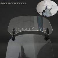 Transparent Motorcycle Risen Adjustable Wind Screen Windshield Spoiler Air Deflector for Honda BMW F800 R1200GS KAWASAKI YAMAHA