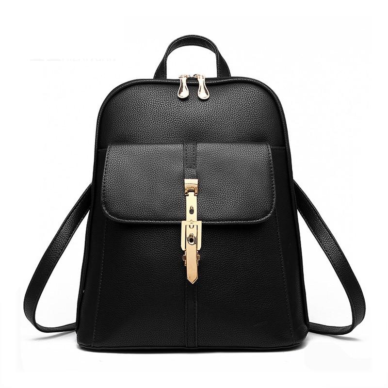 backpacks women backpack school bags students backpack ladies women's travel bags leather package