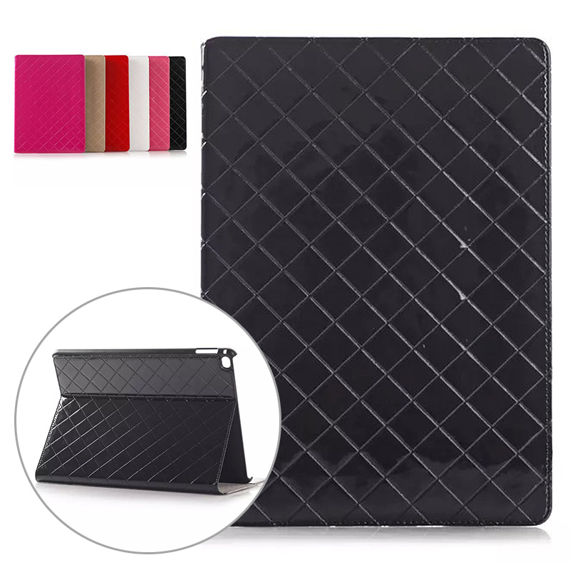 Network Pattern Luxury Leather Case for Ipad Air 2 Card Slot Smart Cover Flip Stand Case for Ipad Air 2 for Ipad 6 Fundas Black