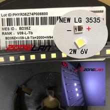 新しいlgイノテックypnl led ledバックライト 2 ワット 6v 3535 クールホワイトlcdバックライトテレビtvアプリケーションLATWT391RZLZK 1000 個