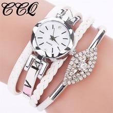 CCQ Brand Fashion Women Dress Handmade Bracelet Watch Luxury 2017 New Casual