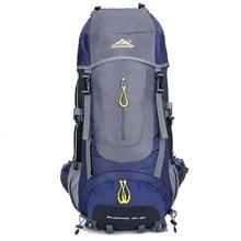 Kapasiti besar Rucksacks berkhemah beg sukan 60L Ransel luar perjalanan Perjalanan gunung mendaki ransel Mendaki begpack mochila D08
