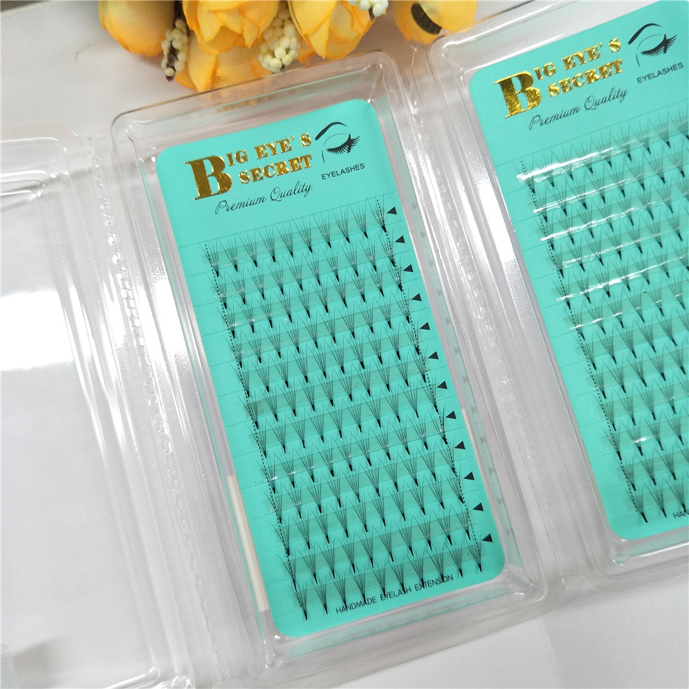 5D Russian Volume Eyelashes Extension Short Stem Pre made Fans Lash Hot Selling Eyelash Individual Extensions Free Shipping