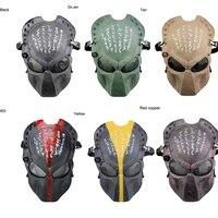 Страйкбольная защитная маска для Хэллоуина  тактическая армейская пейнтбольная маска для всего лица  мягкая металлическая Сетчатая Маска ...