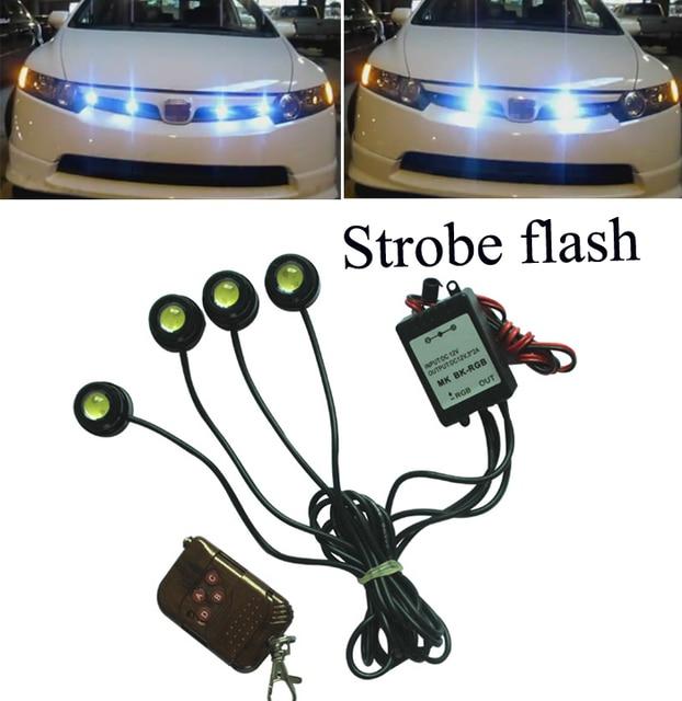 4*1.5W IP68 Strobe Flash Eagle Eye Light  Car DRL Led Daytime Running Light Led Auto Reversing Light