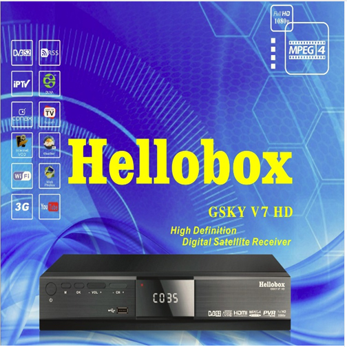 Hellobox GSKY V7 HD POWERVU AUTOROLL IKS CCCAM DVB-S2 RECEIVER TV BOX BETTER THAN FREESAT SUPPORT TANDBERG PATCH [genuine] freesat v7 dvb s2 hd with usb wifi satellite tv receiver support powervu biss key cccamd youtube youporn set top box