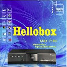 GSKY Hellobox V7 HD POWERVU AUTOROLL SOPORTE IKS CCCAM RECEPTOR DVB-S2 TV BOX MEJOR QUE FREESAT TANDBERG PARCHE