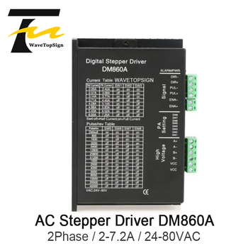 Wavetopsign 2Phase Driver DM860A Input Voltage AC24-80V Current 2-7.2A Match the 86 Series Step Motor