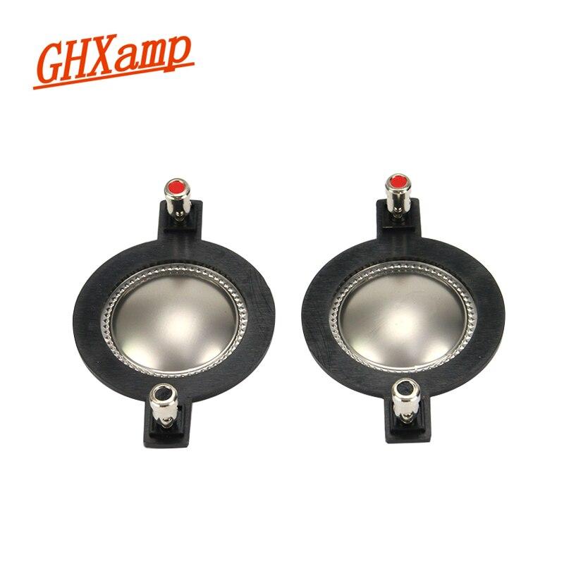 GHXAMP 2PCS 44.4mm TREBLE Voice Coil Speaker Repair Accessories Titanium Film Tweeter Voice Diaphragm DIY