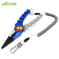 Booms Fishing X1 Aluminum Fishing Pliers Resistant Saltwater For Cutting Braid Line And Remove Hooks Or