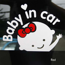 Baby On Board Baby In Car Sticker Waterproof Reflective Car Decal Rear Windshield Door Window Warning Auto Decal