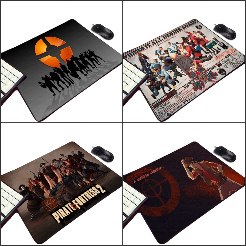 Congsipad Cool Team Fortress 2 Logo Pattern Wallpaper Images Printed Small Computer Mousepad Video Game Gaming Play Mouse Mat