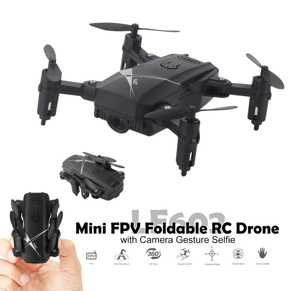 LF602 2.4G wifi FPV Mini Foldable RC Drone 2.0MP/0.3MP camera Drone Headless  Quadcopter pictures videos real time transmission(China)