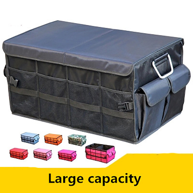 Car Trunk Organizer Oxford Car Back Folding Portable Storage Tool Bag Multi-Use Food Organizers Auto Collapsible Storage Box