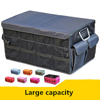 Car Trunk Organizer Oxford Car Back Folding Portable Storage Tool Bag Multi Use Food Organizers Auto Collapsible Storage Box