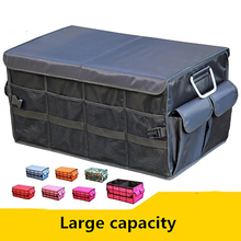 Evrensel araba Boot organizatör Oxford SUV katlanır bagaj organizatör aracı gıda çantası otomatik katlanabilir saklama kutusu kapak aksesuarları