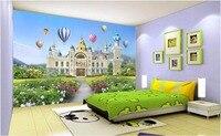 3d wallpaper murale personalizzato Bella piccola principessa dream castle pittura foto 3d murales wallpaper per pareti 3 d