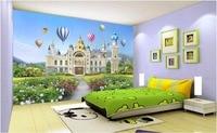 Sala 3d wallpaper mural de encargo Hermosa pequeña princesa dream castle foto pintura de pared 3d murales de papel tapiz para paredes 3 d