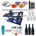 glass bottle screen printing machine for single color with good quality