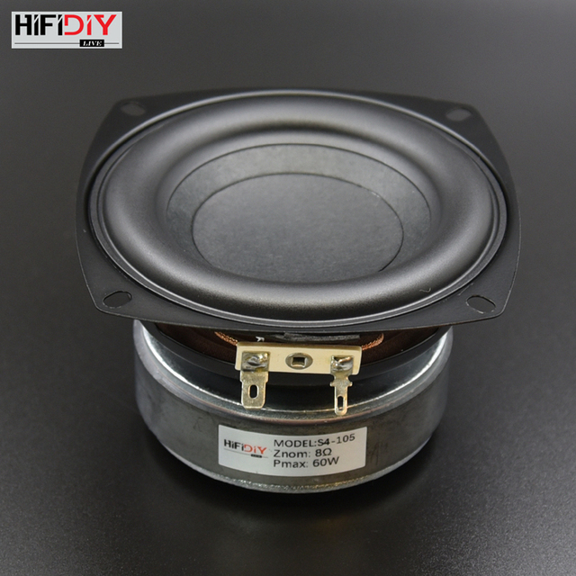 Hi Fi Diy S4 105 4 Inch 60w Audio Round Woofer Speaker High