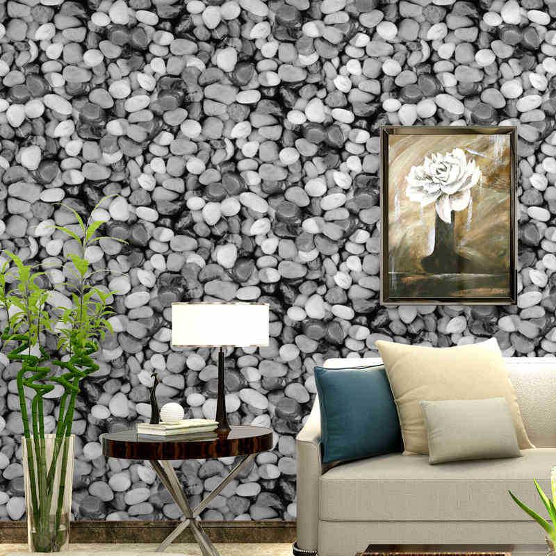 3D pierre papier peint Mural étanche PVC vinyle carrelage papier peint pour cuisine salle de bains fond mur pas auto-adhésif 10 M X 53 CM