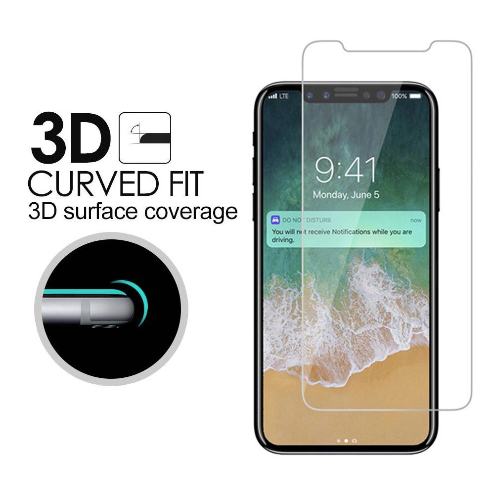 3D Curved Edge Full And Non-Full Cover 9H Hard screen protector for iphone X Tempered Glass Cover