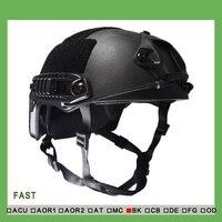NIJ IIIA FAST Kogelvrije Helm (Met Rapport)/Ops Core FAST Ballistic Helm/Multi camo Bullet proof helm