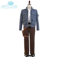 Star Wars Cosplay Empire Strikes Back Han Solo Jacket Shirt Pants Uniform Belt Holster Adult Men Halloween Cosplay Costume