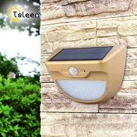 TSLEEN Solar Powered Outdoor Led Light 24 37 46 LEDs Waterproof PIR Motion Sensor Path Wall