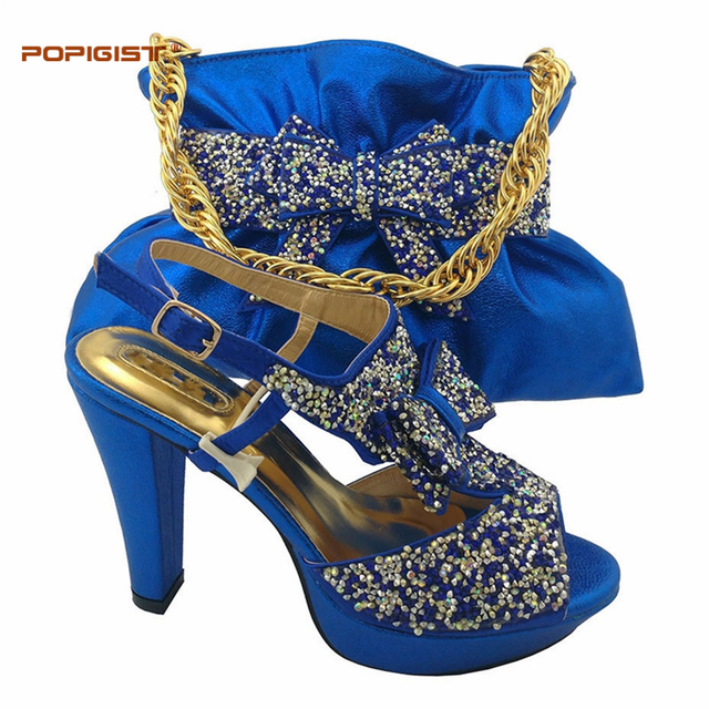 Royal blue shoes match lucky smart handbag wedding shoes and bag royal blue shoes match lucky smart handbag wedding shoes and bag sets women pumps decorated with junglespirit Images