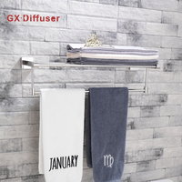 Stainless Steel Towel Rack Polished Bathroom Towel Shelf GX Diffuser