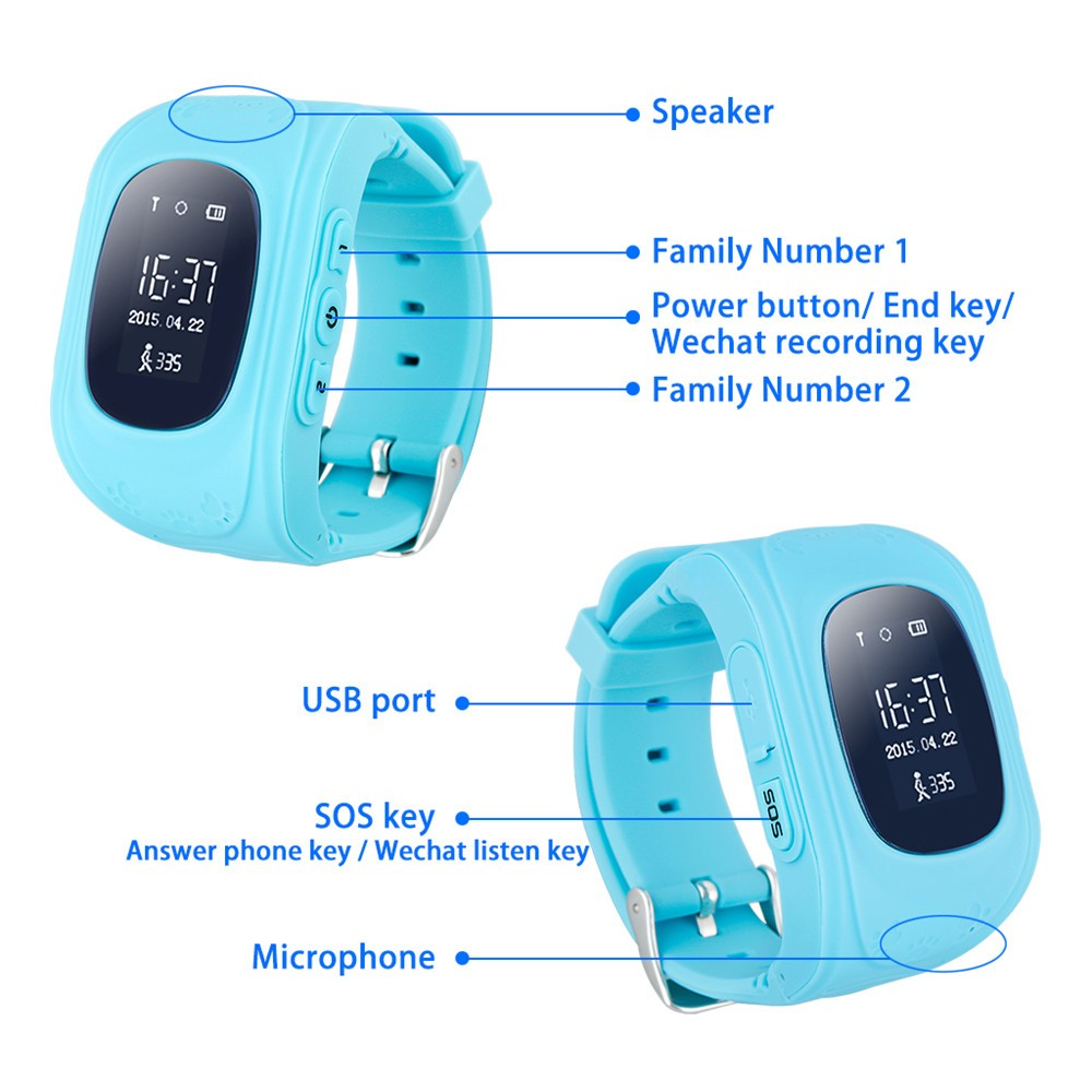 2016 Smart Kid Safe GPS Watch Wristwatch SOS Call Location Finder Locator Tracker for Kid Child Anti Lost Monitor Baby Gift Q5015