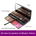 Big Discount Profession 20 Colors Eyeshadow Blush Makeup Set Cosmetic Palette Warm Eye Shadow + Blush Cosmetic set Free Shipping