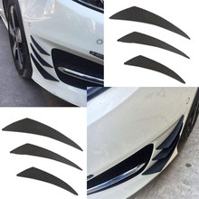 2018 Black Carbon Fiber Fit Front Bumper Lip Splitter Fin Air Car Body Kit Car Spoiler Car Accessories fit 05 06 07 08 09 10 11 12 13 chevy corvette c6 base front bumper lip splitter spoiler pu