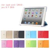 Tablette étui pour iPad air2 d'ipad pro 9.7 (2016) PC + Cuir PU Smart Auto Réveil Ultra Mince étui pour iPad air2 pro 9.7