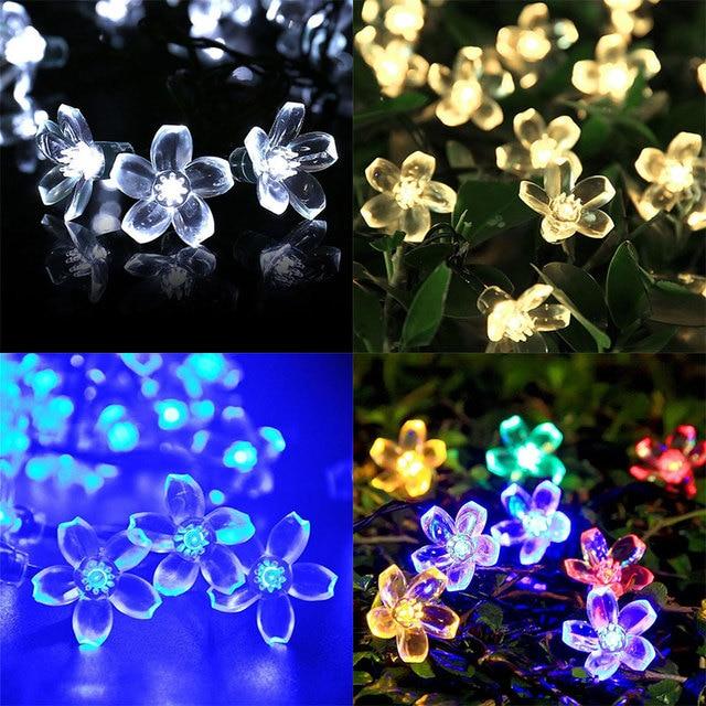 New Led Outdoor Solar String Lights Blossom Flower Fairy Light - Flower string lights for bedroom