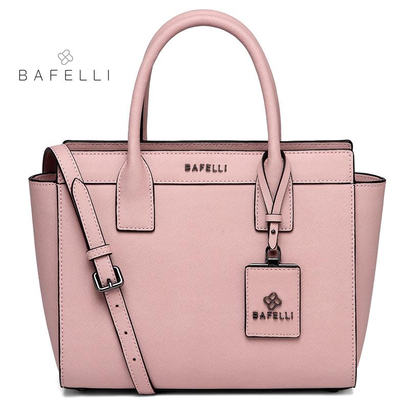BAFELLI women shoulder bag split leather trapeze large capacity bolsos mujer luxury handbags women bags designer messenger bag цена