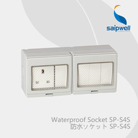 Saipwell Electrical Plugs & Sockets waterproof double control switch and socket British Style (SP S4S)