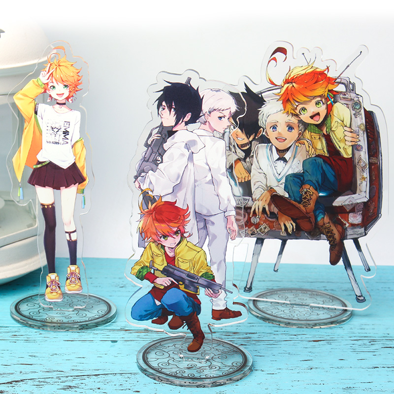 2019 Japanese Anime The Promised Neverland Emma Ray Norman Acrylic Stand Figure Decoration Cosplay Desk Decor Fans Gift